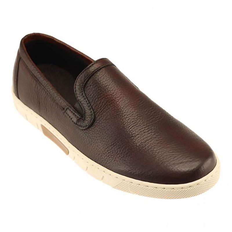 TB Phelps SoHo Deerskin Slip-On Sneakers Chestnut Image