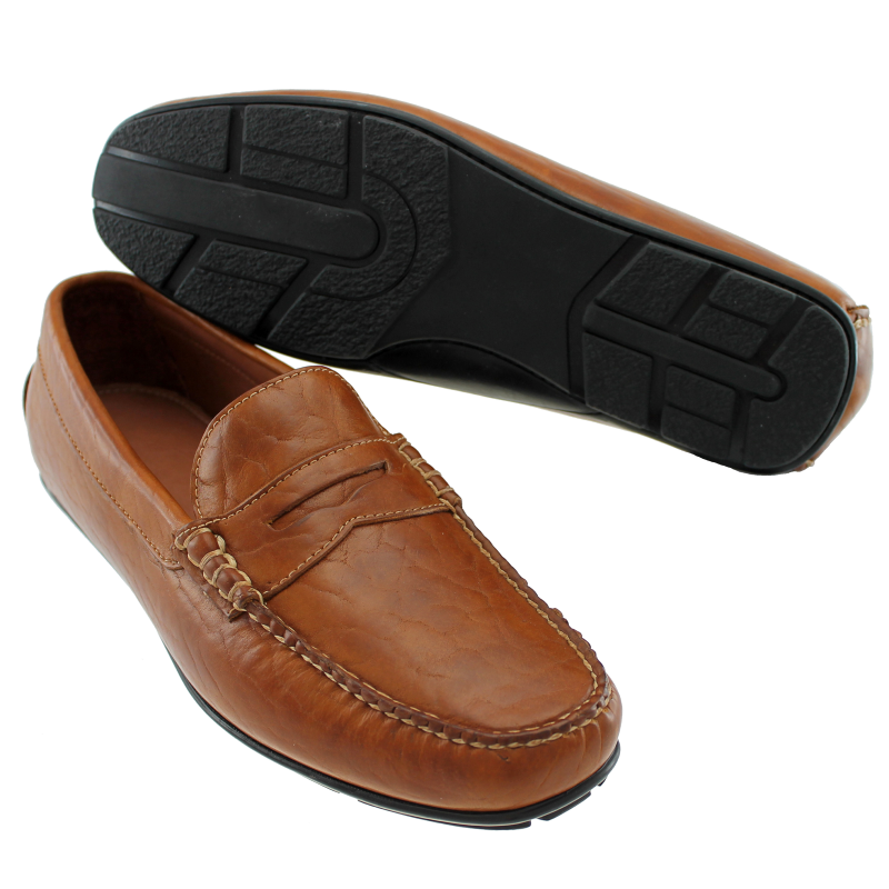 TB Phelps Sundance Bison Driving Shoes Tan Image