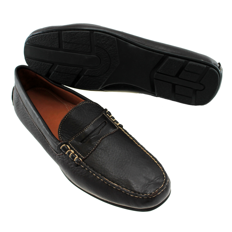 TB Phelps Sundance Elk Driving Shoes Black Image