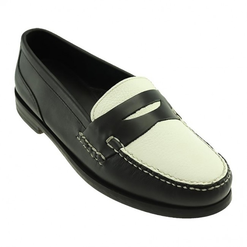 TB Phelps The Shag Loafers Black / White Image