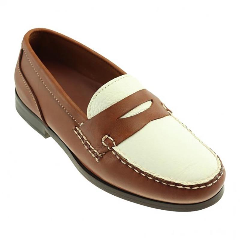 TB Phelps The Shag Loafers Walnut / White Image