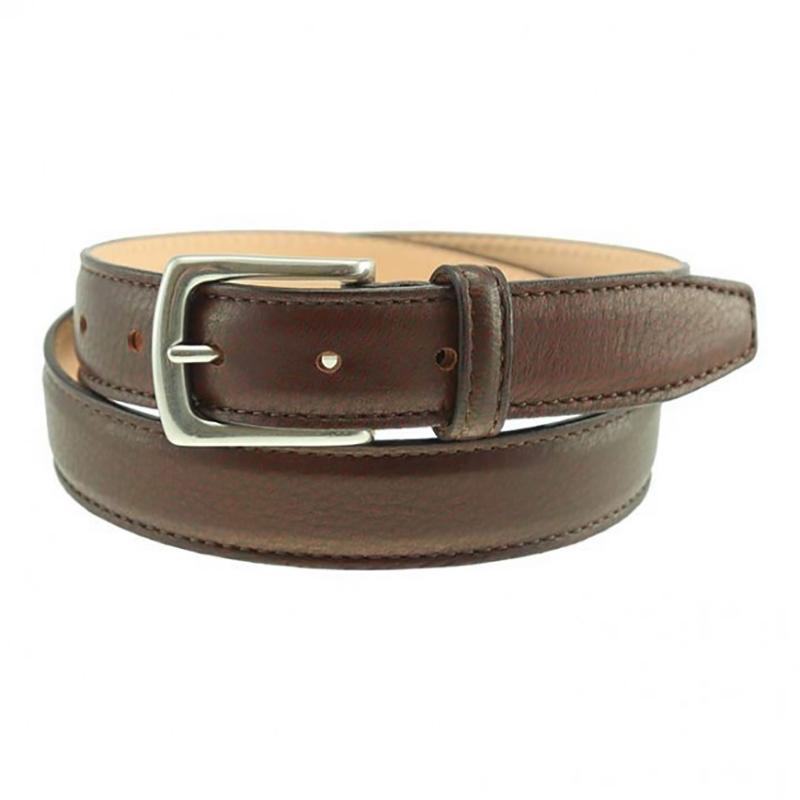 TB Phelps Torrence Deerskin Dress Belt Chestnut Image