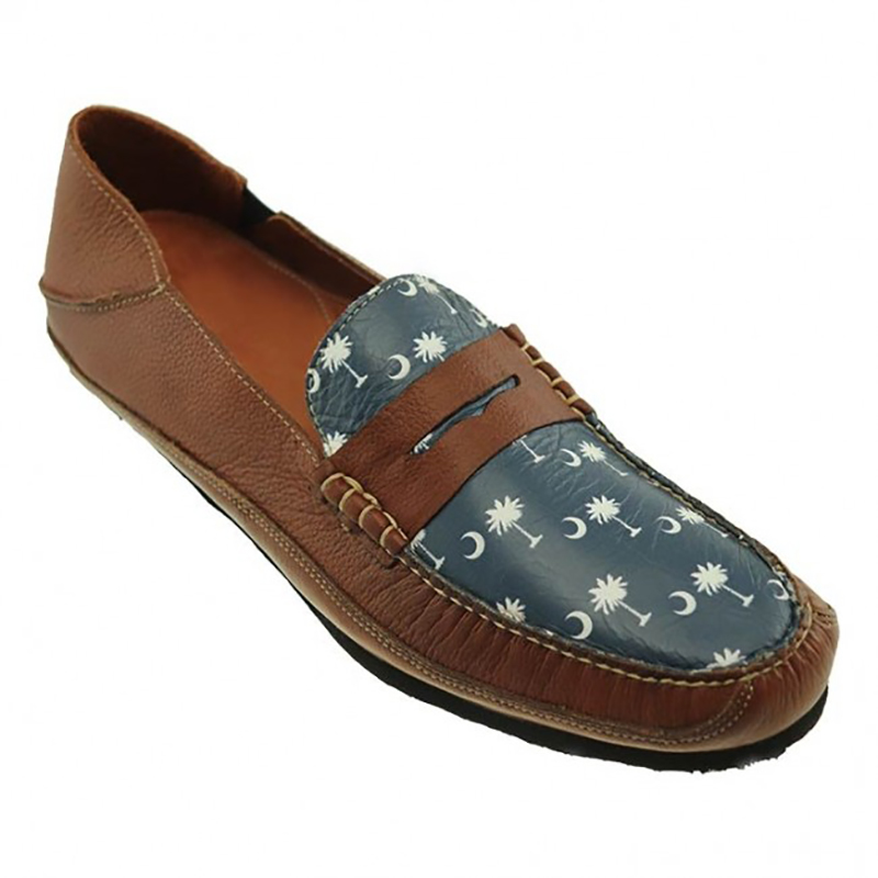 TB Phelps Wentworth Slip-On Shoes Tree / Moon / Navy Image