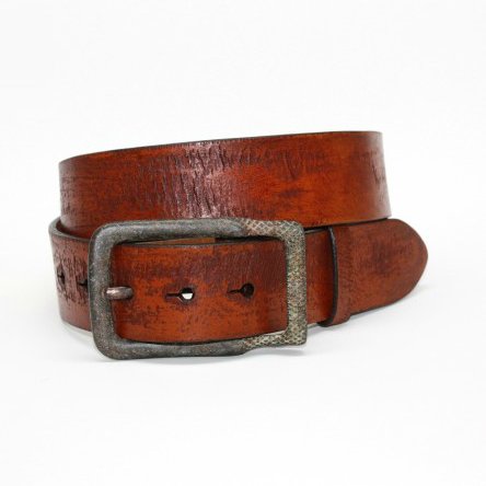 torino leather age distressed harness leather belt