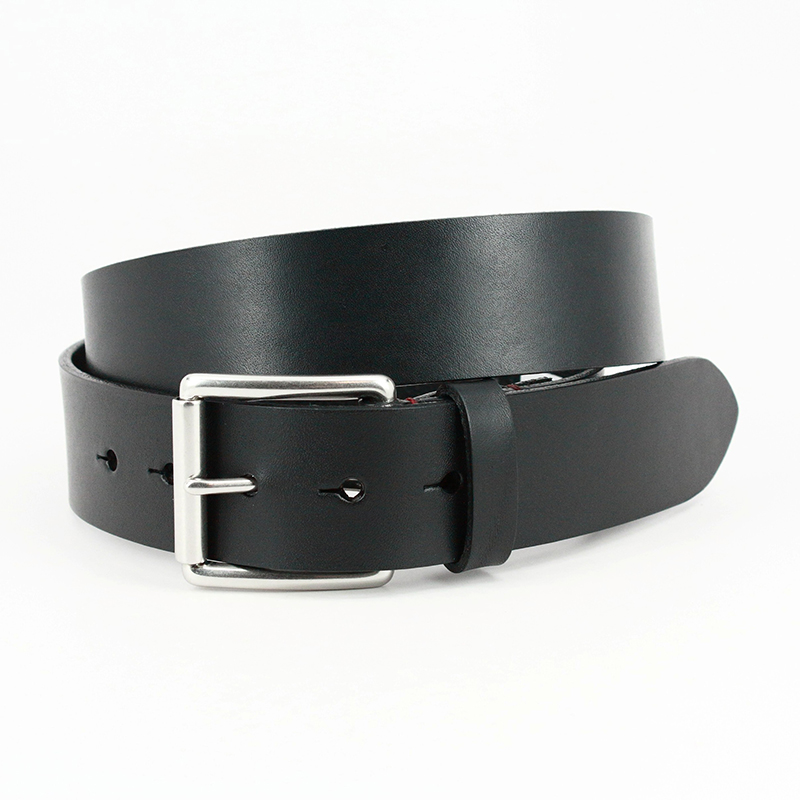 Torino Leather Hand Burnished Bridle Leather Belt Black Image