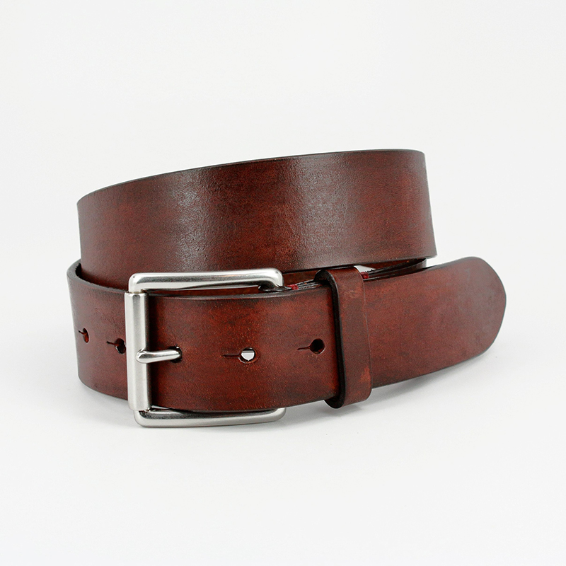 Torino Leather Hand Burnished Bridle Leather Belt Brown Image