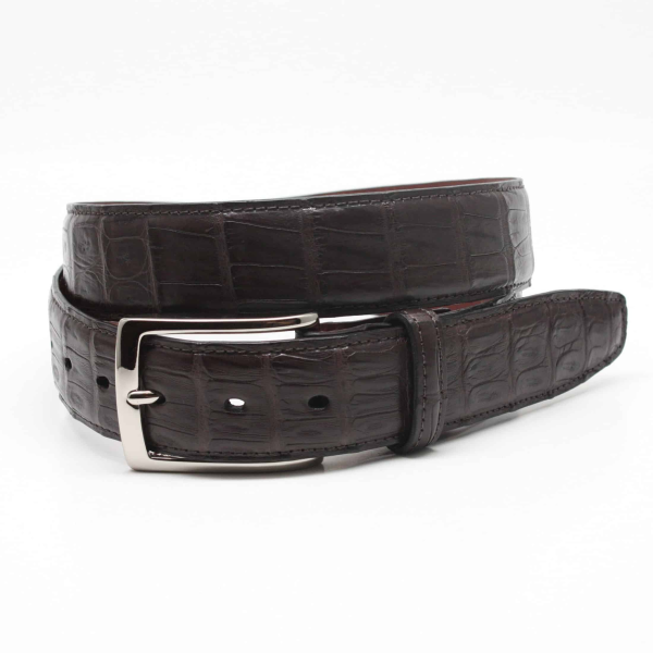 Torino Leather South American Caiman Belt Brown Image