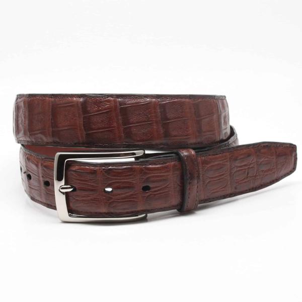 Torino Leather South American Caiman Belt Cognac Image