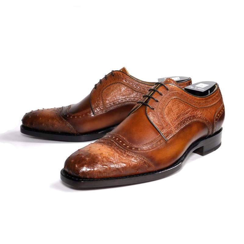 Ugo Vasare Ajax Ostrich Derby Shoes Brown Image