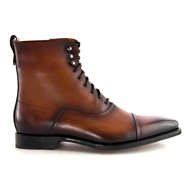 Ugo Vasare Brady Cap Toe Boots Caramel Image
