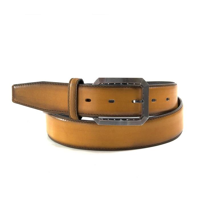 Ugo Vasare Calfskin Belt Caramel Image