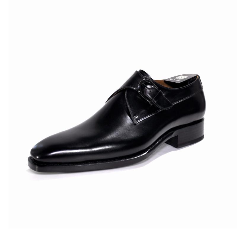 Ugo Vasare Edward Monk Strap Shoes Black Image