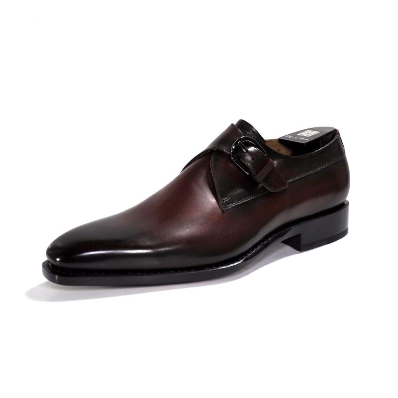 Ugo Vasare Edward Monk Strap Shoes Burgundy Image