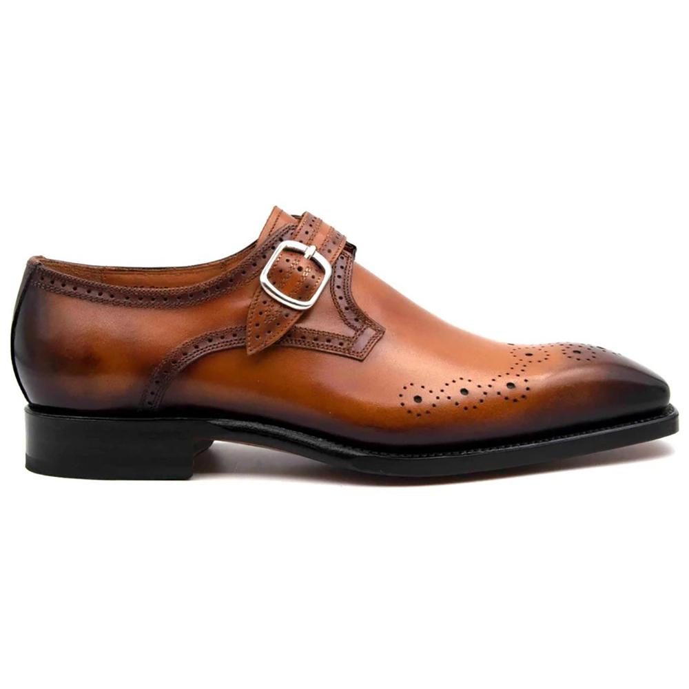 Ugo Vasare Eric Monkstrap Shoes Caramel Image