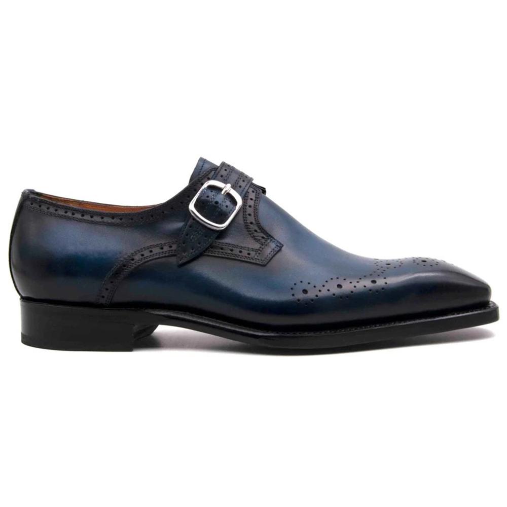 Ugo Vasare Eric Monkstrap Shoes Sapphire Blue Image