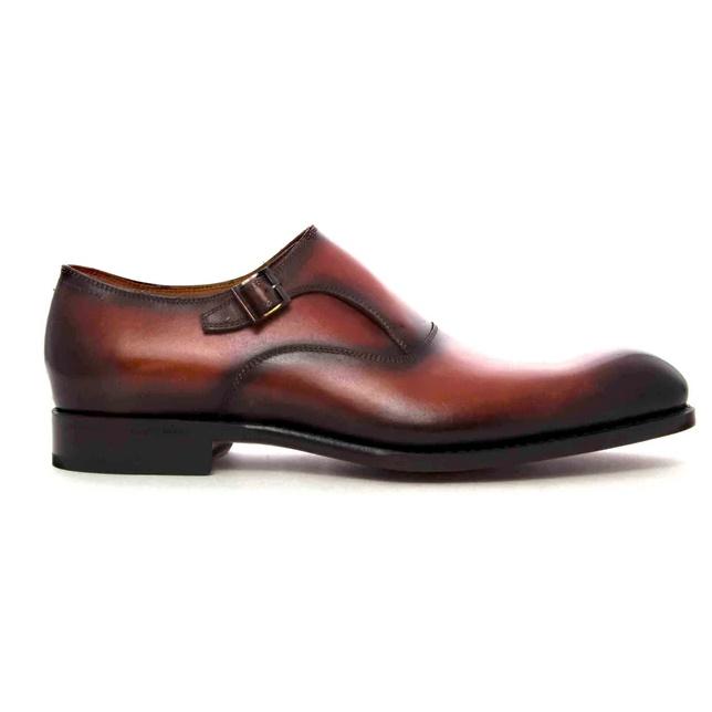 Ugo Vasare Fred Monk Strap Shoes Camel Image