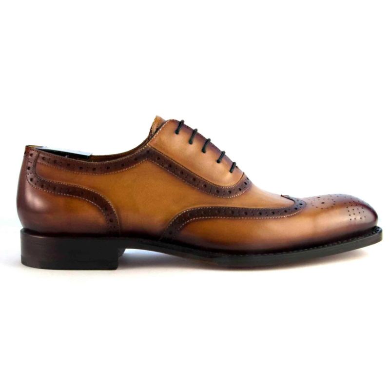 Ugo Vasare H & H Wingtip Brogues Honey Image