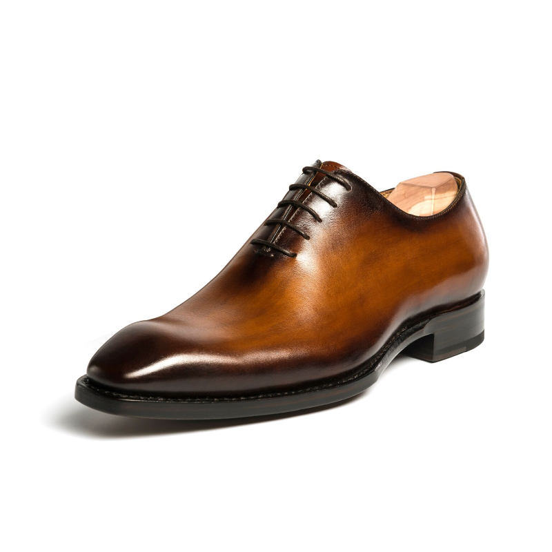 Ugo Vasare Jason Wholecut Oxfords Caramel Image