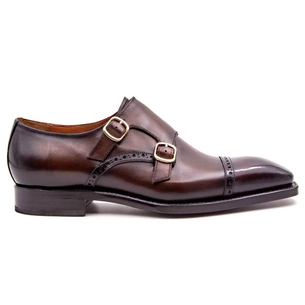 Ugo Vasare Ryan Double Monkstrap Shoes Brown Image