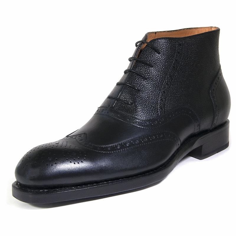 Ugo Vasare Stanford Wingtip Boots Black Image