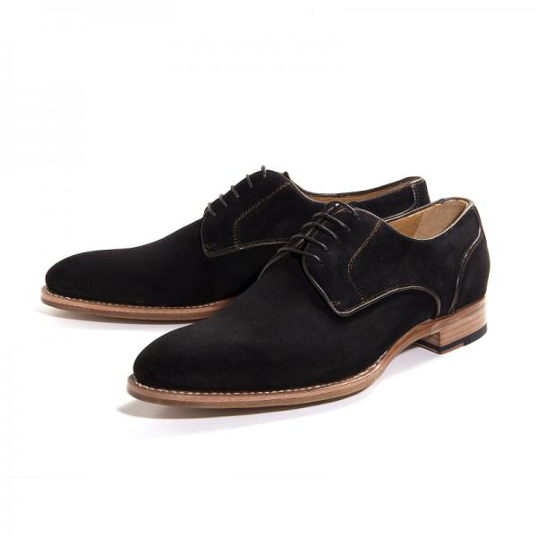 Ugo Vasare Clark Suede Derby Shoes Brown Image