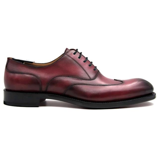 Ugo Vasare Wick Oxford Wingtip Shoes Burgundy Image