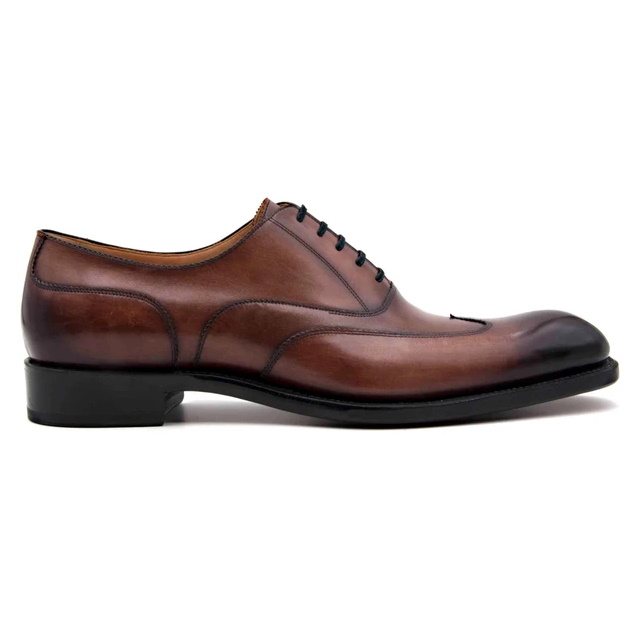 Ugo Vasare Wick Oxford Wingtip Shoes Walnut Image