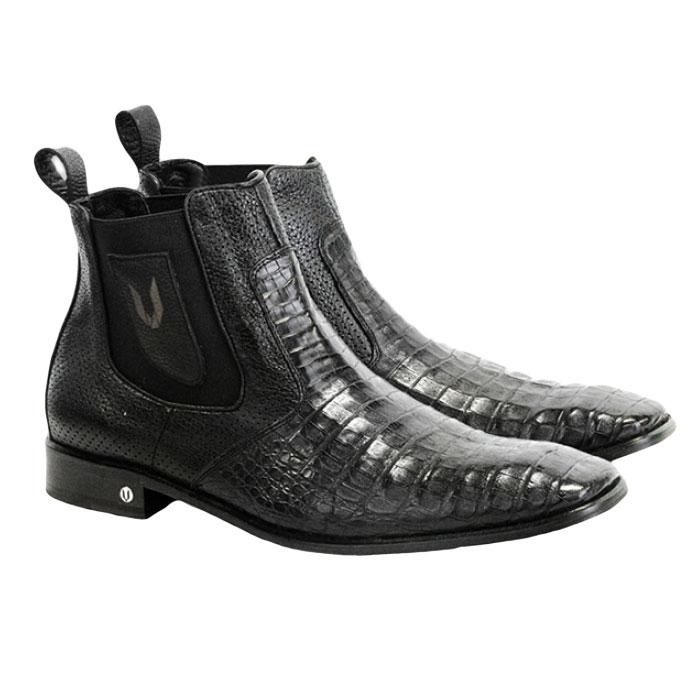 Vestigium Caiman Belly Chelsea Boots Black  Image