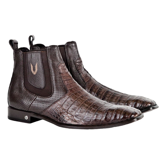 Vestigium Caiman Belly Chelsea Boots Brown  Image