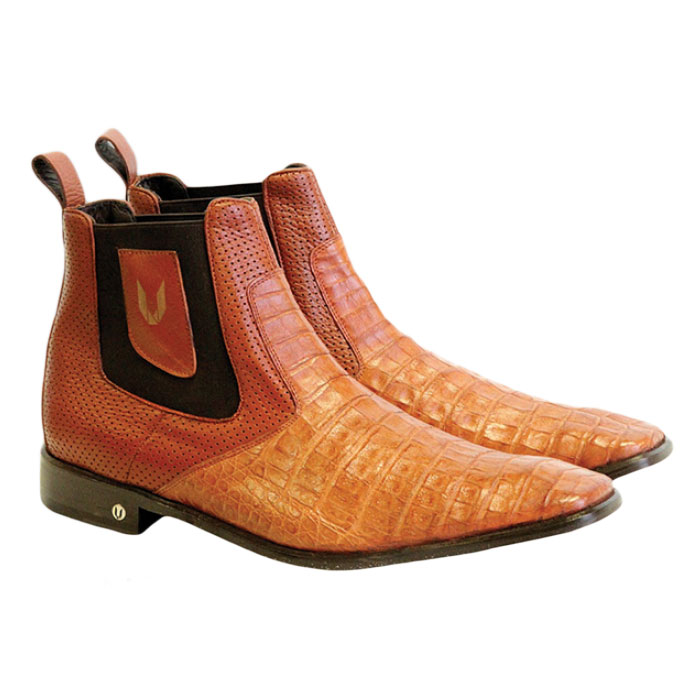 Vestigium Caiman Belly Chelsea Boots Cognac  Image