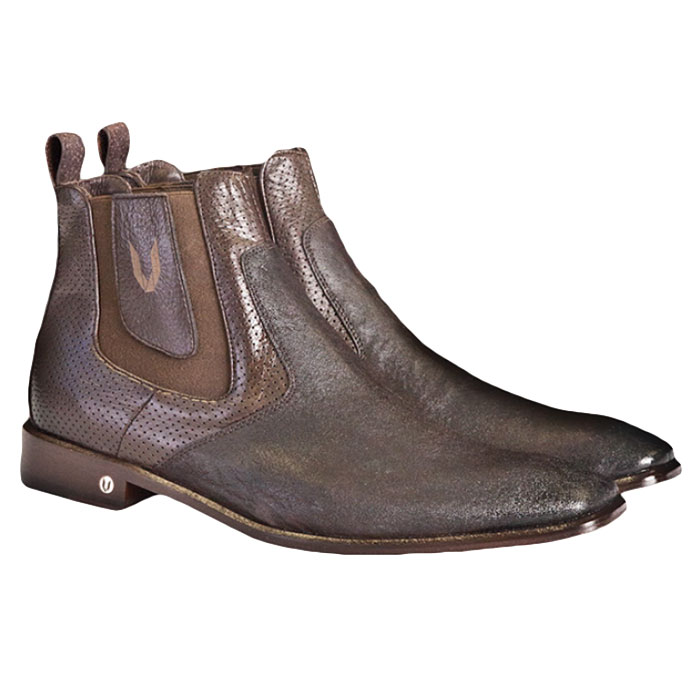 Vestigium Cat Shark Chelsea Boots Faded Brown Image