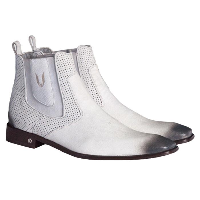 Vestigium Cat Shark Chelsea Boots Faded White Image