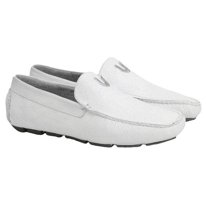 Vestigium Cat Shark Driving Loafers White Image