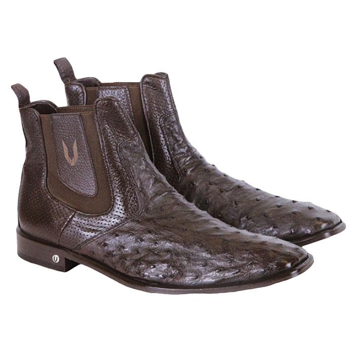 Vestigium Ostrich Chelsea Boots Brown Image