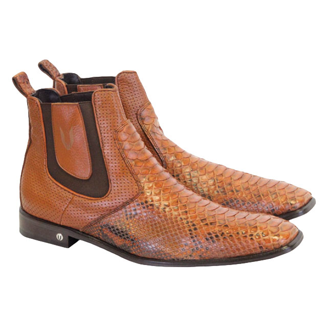 Vestigium Python Chelsea Boots Cognac Image