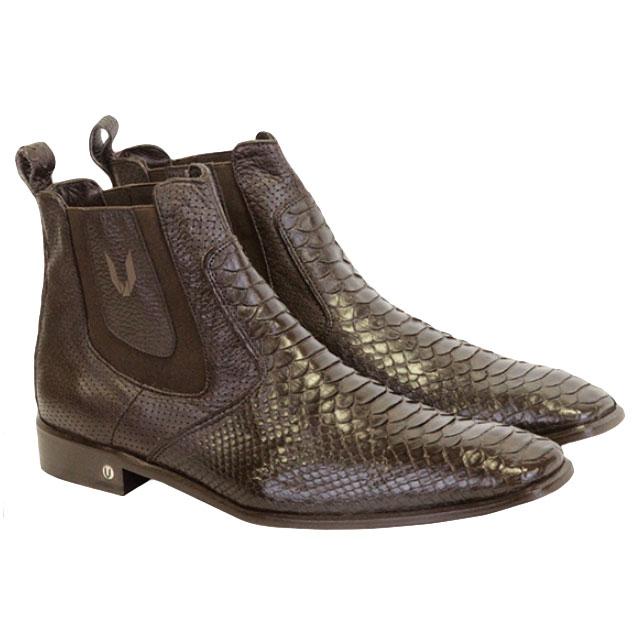 Vestigium Python Chelsea Boots Dark Brown Image
