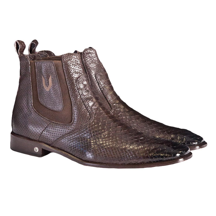 Vestigium Python Chelsea Boots Faded Brown Image