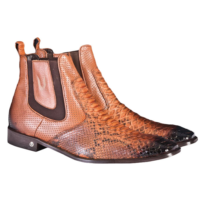 Vestigium Python Chelsea Boots Faded Cognac Image