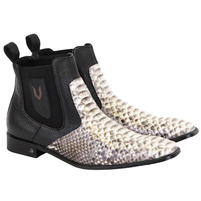 Vestigium Python Chelsea Boots Natural Black Image