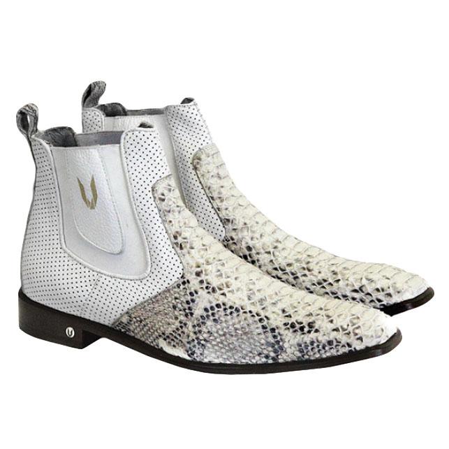 Vestigium Python Chelsea Boots Natural White Image