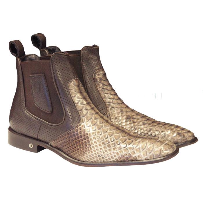 Vestigium Python Chelsea Boots Rustic Brown Image