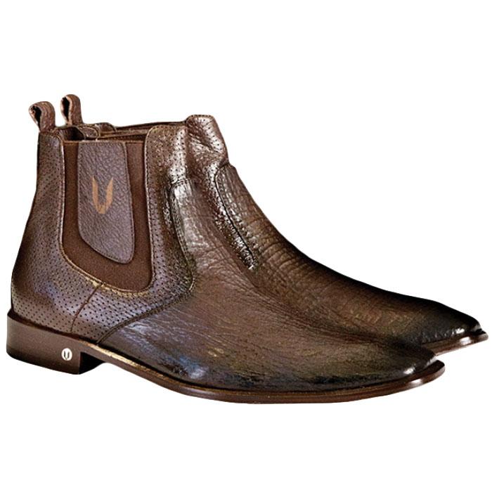 Vestigium Shark Chelsea Boots Faded Brown Image