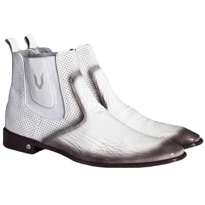 Vestigium Shark Chelsea Boots Faded White Image
