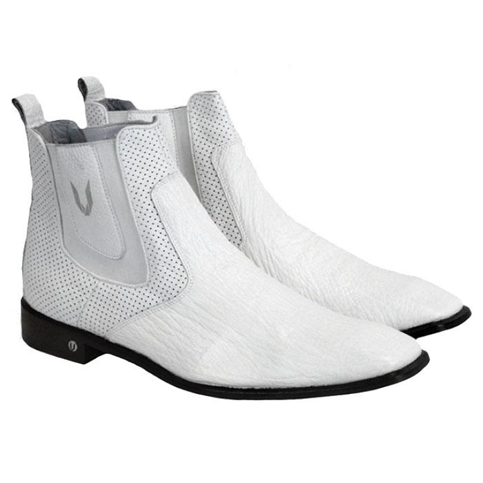 Vestigium Shark Chelsea Boots White Image