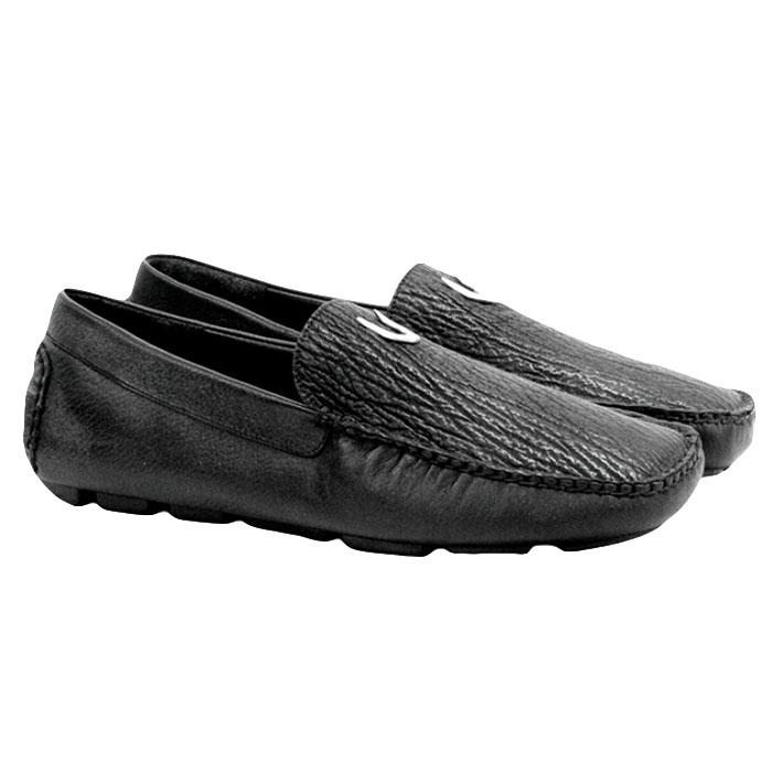 Vestigium Shark Driving Loafers Black Image