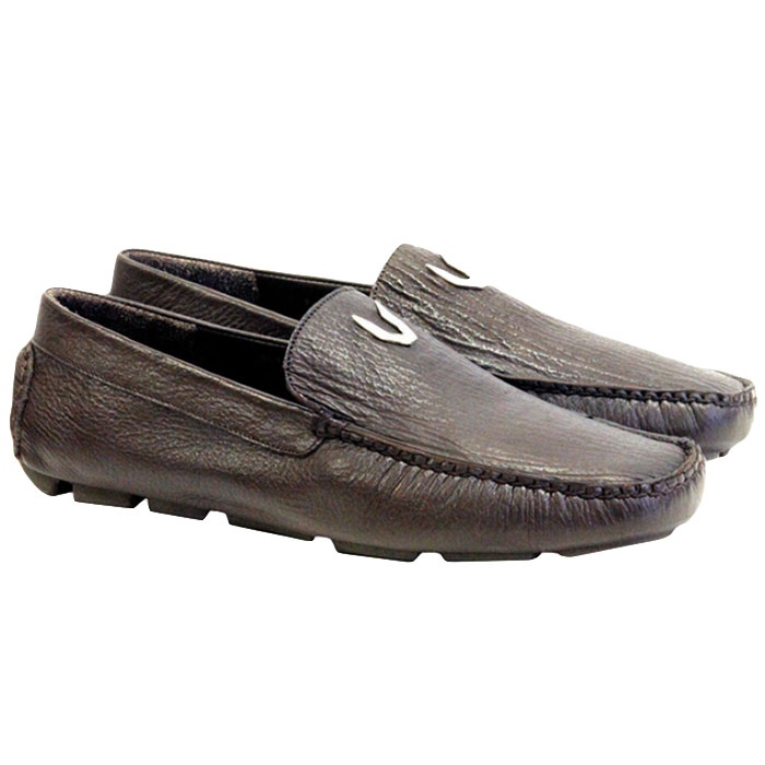 Vestigium Shark Driving Loafers Brown Image