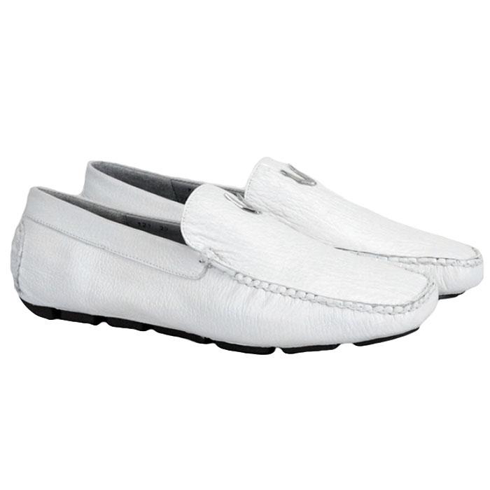 Vestigium Shark Driving Loafers White Image