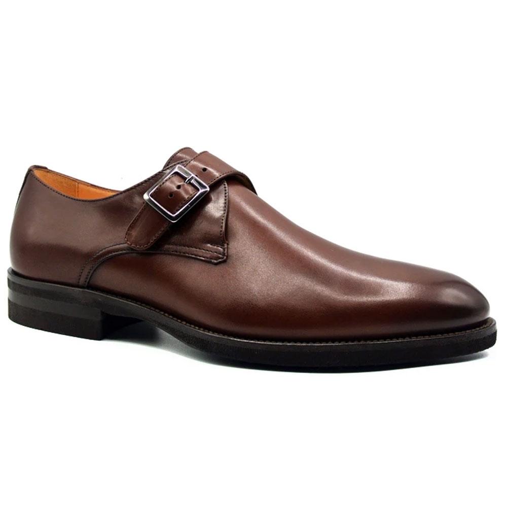Zelli Roman Monk Strap Shoes Nicotine Image