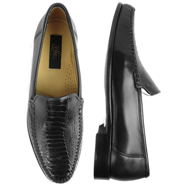 Download image Zelli 471 Ostrich Nappa Loafers Black Image PC, Android ...