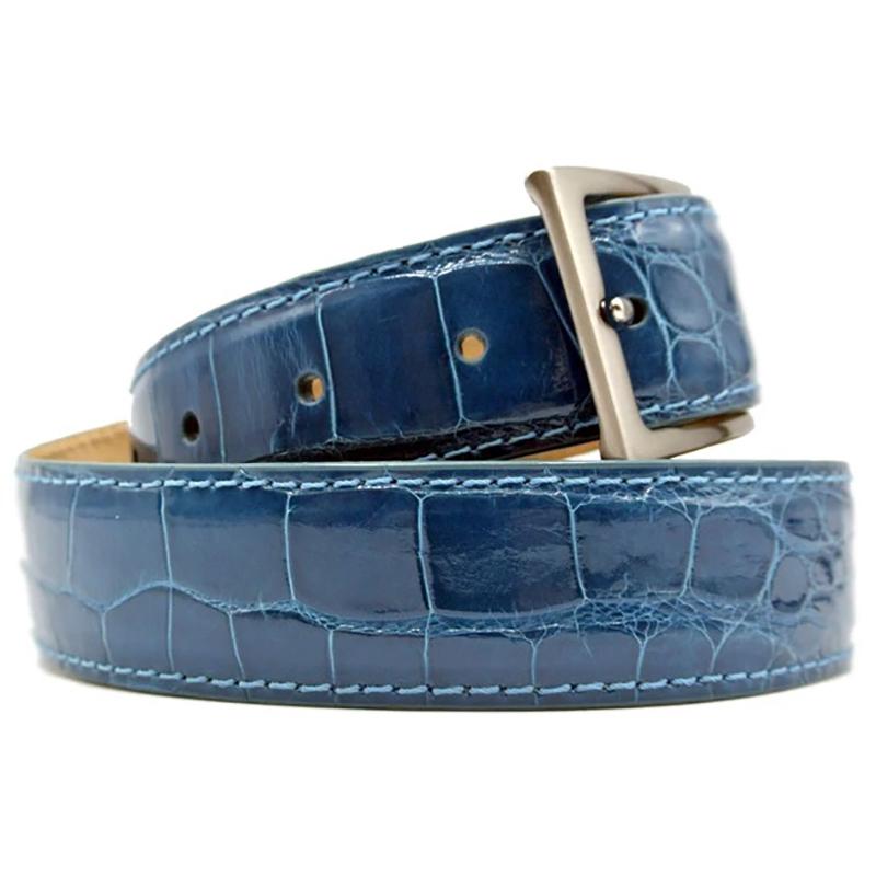 Zelli Alligator Belt Turquoise Image